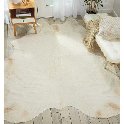Couture Rug Br301 White 5' X 7' Throw Rug