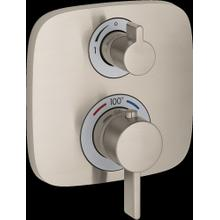 Brushed Nickel Thermostatic Trim with Volume Control
