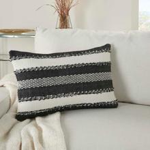 """Outdoor Pillows Vj088 Black 14"""" X 22"""" Throw Pillow"""