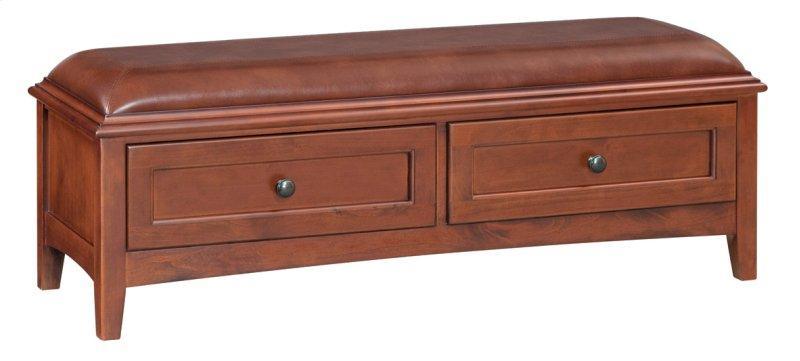 Whittier WoodGac 2-Drawer Mckenzie Bench
