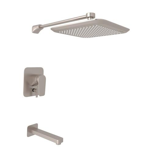 Satin Nickel Perrin & Rowe Hoxton Pressure Balance Shower Package with Hoxton Metal Lever