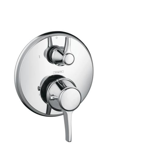 Chrome Thermostatic Trim with Volume Control, Round