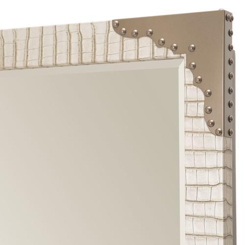 Amini - Upholstered 2 PC Storage Console- Dresser W/ Mirror