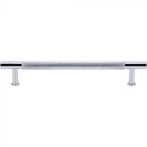 Vesta Fine Hardware - Beliza Knurled Bar Pull 6 5/16 Inch (c-c) Polished Chrome Polished Chrome