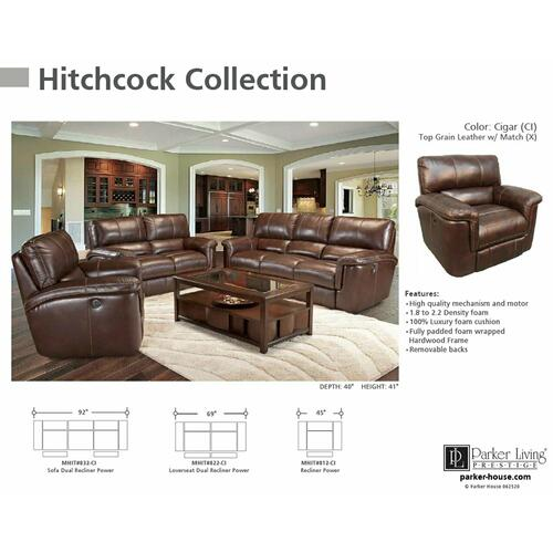 Parker House - HITCHCOCK - CIGAR Power Sofa
