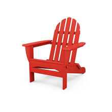 Sunset Red Classic Folding Adirondack Chair