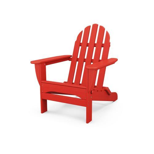 Sunset Red Classic Folding Adirondack Chair