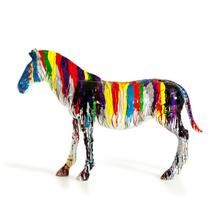 View Product - Modrest Large Rainbow Zebra Sculpture