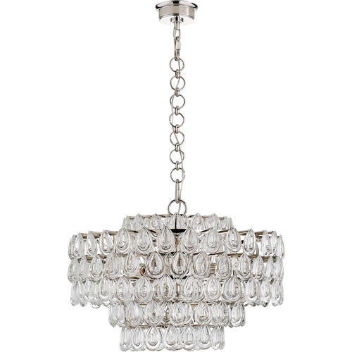 AERIN Liscia 12 Light 25 inch Polished Nickel Chandelier Ceiling Light, Medium