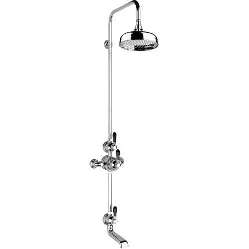 """Antique Gold Exposed 1/2"""" thermostatic shower set - bath spout and shower"""