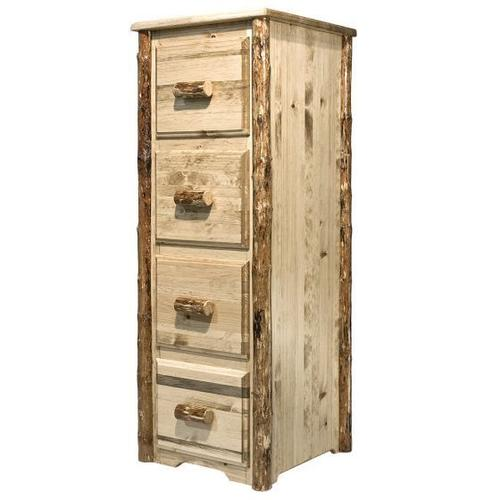 Montana Woodworks - Glacier Country Collection 4 Drawer File Cabinet