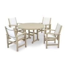Sand & White Coastal 5-Piece Dining Set
