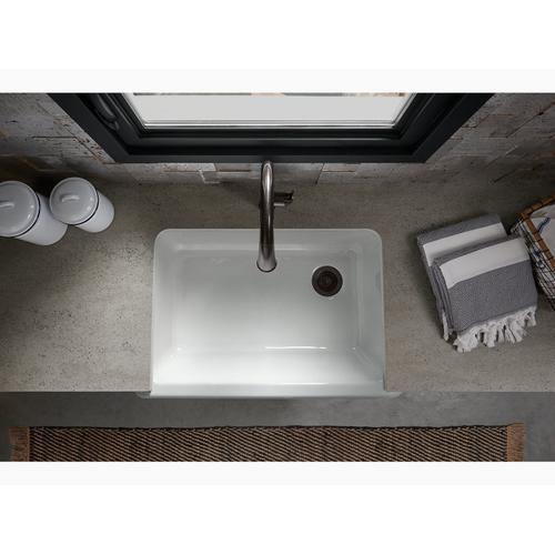 "Lavender Grey 32-11/16"" X 21-9/16"" X 9-5/8"" Undermount Single-bowl Farmhouse Sink"