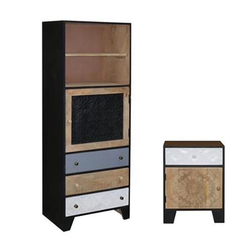 Progressive Furniture - Nightstand - Multi/Black Finish