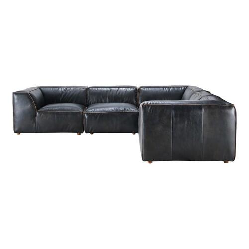 Moe's Home Collection - Luxe Classic L Modular Sectional Antique Black