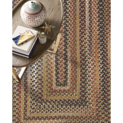 """Capel Rugs - Homecoming Chestnut Brown - Round - 15"""""""