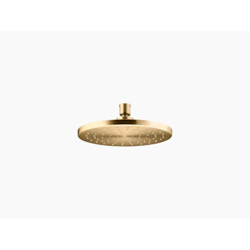 """Vibrant Moderne Brushed Gold 8"""" Rainhead With Katalyst Air-induction Technology, 1.75 Gpm"""