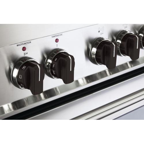Color Knob Set for Designer Single Oven Gas Range - Black