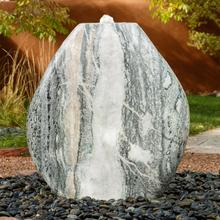 Polished Pebble Fountain Green Marble