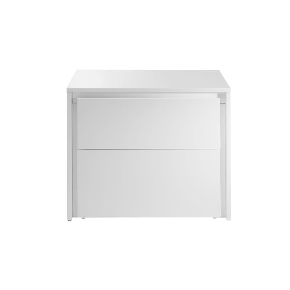 The Zen Nightstand In High Gloss White Lacquer
