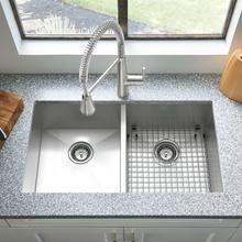 View Product - Edgewater 33x22 Double Bowl Stainless Steel Kitchen Sink  American Standard - Stainless Steel