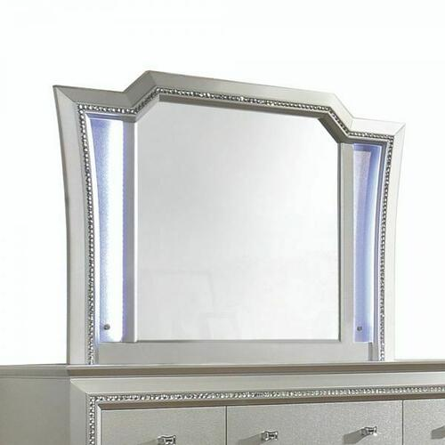 ACME Kaitlyn Mirror - 27234 - LED & Champagne