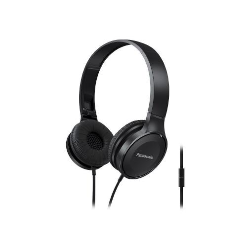 Lightweight On-Ear Headphones with Mic + Controller - Black - RP-HF100M-K