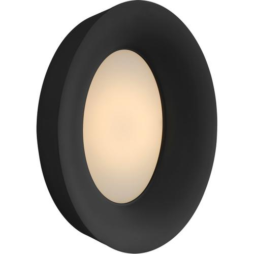 Barbara Barry Halo LED 11 inch Matte Black Wall Sconce Wall Light, Medium Oval