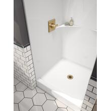 "High Gloss White 36"" x 37"" One Piece Shower"
