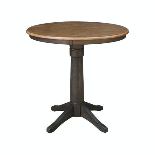"John Thomas Furniture - 36"" Pedestal Table in Hickory / Coal"