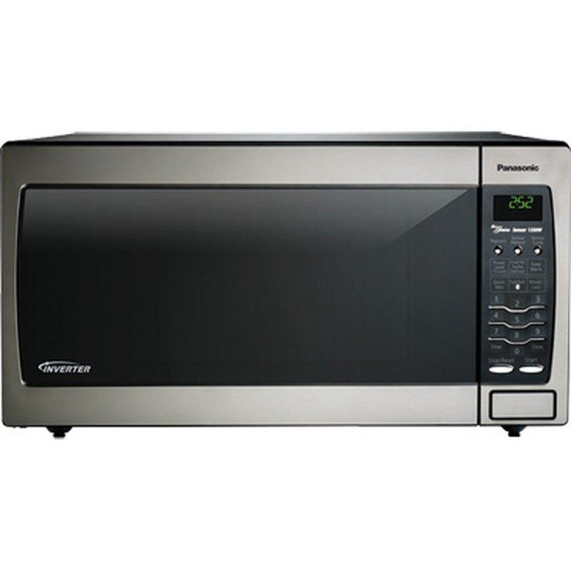 Full Size 1.6 Cu. Ft. Genius Countertop/Built-In Microwave Oven with Inverter Technology, Stainless NN-SN778S