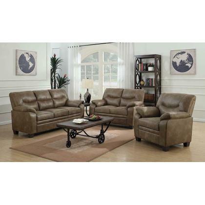See Details - Meagan Casual Brown Sofa