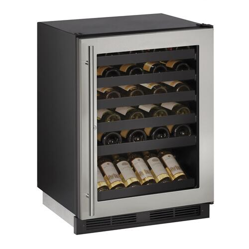 "1224wc 24"" Wine Refrigerator With Stainless Frame Finish (115 V/60 Hz Volts /60 Hz Hz)"