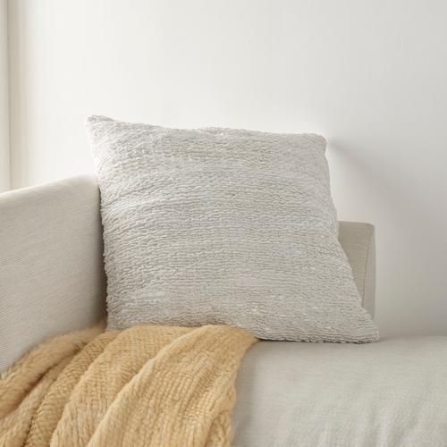 """Life Styles Dc257 White 26"""" X 26"""" Throw Pillow"""