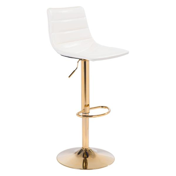 See Details - Prima Bar Chair White & Gold
