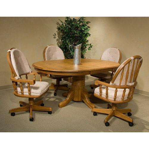 Intercon Furniture - Classic Oak Chestnut Curved Top Game Chair