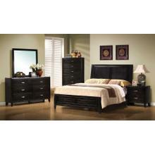 Nacey Dark Brown King Five-piece Bedroom Set