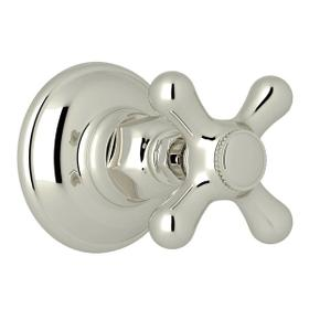 Verona Trim for Volume Control and 4-Port Dedicated Diverter - Polished Nickel with Cross Handle
