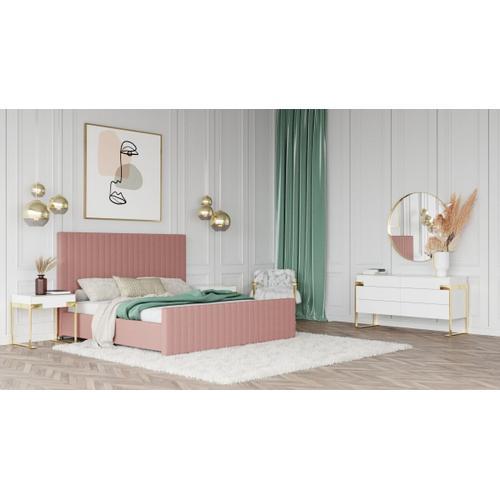 VIG Furniture - Modrest Beverly - Modern Mauve Velvet Bed