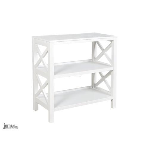 Bridgehampton X-sided Bookcase-bridgehampton White