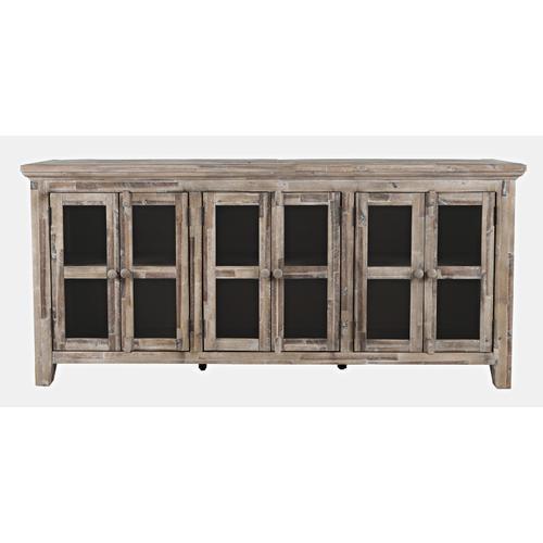 Rustic Shores 4 Door High Cabinet