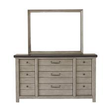 See Details - 9 Drawer Dresser in Farmhouse Grey