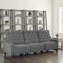See Details - CHELSEA - WILLOW GREY Power Triple Reclining Sofa (811LP, 810P, 811RP)