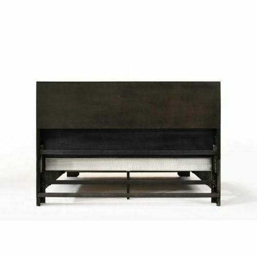 ACME Merveille Eastern King Bed w/Storage - 22867EK - Espresso