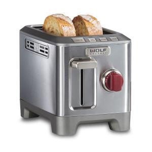 WolfTwo Slice Toaster Black Knob