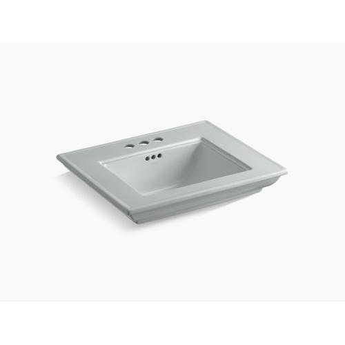 """Ice Grey 24"""" Pedestal/console Table Bathroom Sink Basin With 4"""" Centerset Faucet Holes"""