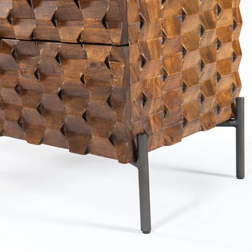 Raffael 5 Drawer Dresser-antique Brown