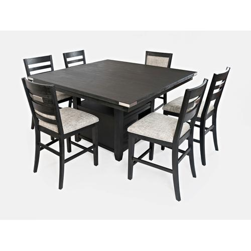 Altamonte Square Counter Height Table - Dark Charcoal