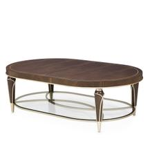 Villa cherie Oval Cocktail Table Hazelnut