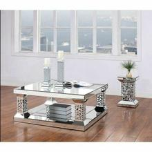 ACME Kachina Coffee Table - 81425 - Mirrored & Faux Gem
